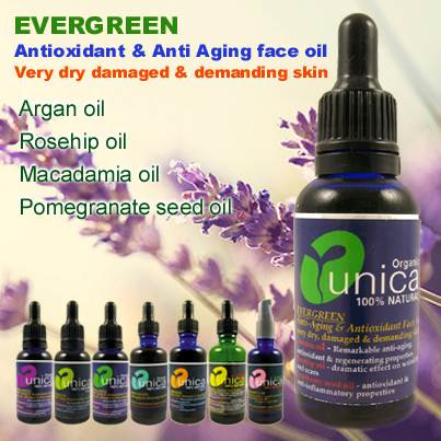 Evergreen organic face oil